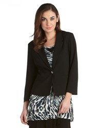 Kensie One Button Blazer Black