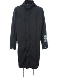 Mcq By Alexander Mcqueen Logo Patch Parka Black