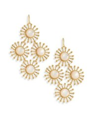 Nest Starburst Mother Of Pearl Chandelier Earrings