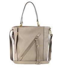 Chloe Myer Medium Leather And Suede Tote Grey