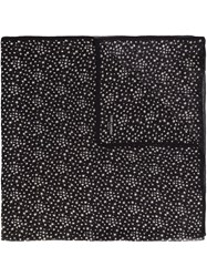 Saint Laurent Star Print Scarf Black