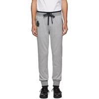Dolce And Gabbana Grey Melange Plain Sweatpants