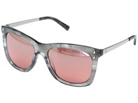 Michael Kors Lex Mk2046 54Mm Grey Floral Red Silver Flash Fashion Sunglasses Pink