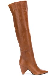 Aldo Castagna Pointed Toe Boots Brown