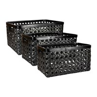 Day Birger Et Mikkelsen Rectangle Bamboo Strap Basket Set Of Three Black