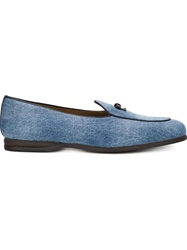Bow Tie 'Henry' Denim Loafers Blue