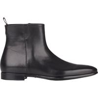 Giorgio Armani Side Zip Ankle Boots Black