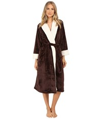 N By Natori Cashmere Fleece Robe Chocolate Women's Robe Brown