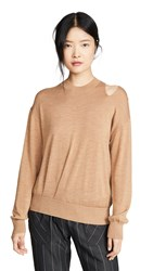 Edition10 Cut Out Sweater Apple Cinnamon