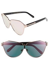 Karen Walker Women's 'Cosmonaut Superstars' Mirrored Lens Sunglasses Rose Gold With Black