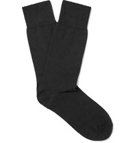 John Smedley Eros Sea Island Cotton Blend Socks Black