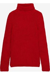 Antik Batik Erwan Oversized Alpaca Blend Turtleneck Sweater Red