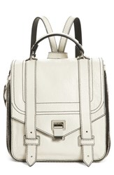 Proenza Schouler Ps1 Leather Convertible Backpack Ivory Clay