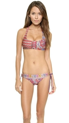 Tigerlily Pashmina T Bar Crop Bikini Top Rouge
