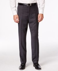 Shaquille O'neal Collection Big And Tall Charcoal Plaid Pants Only At Macy's Grey