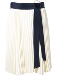 3.1 Phillip Lim Belted Pleated Skirt White