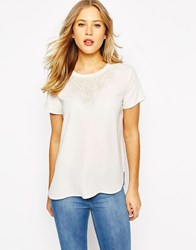 Oasis Trimmed Tee Ivory
