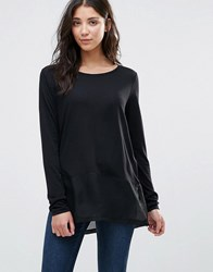 Jdy Cone Layered Long Sleeved Top Black