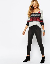 Free People High Rise Crop Skinny Trousers Lordewash