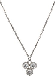 Cathy Waterman Women's Triple Hexagon Pendant Necklace Colorless