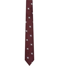 Peckham Rye Skull And Crossbones Silk Tie Red