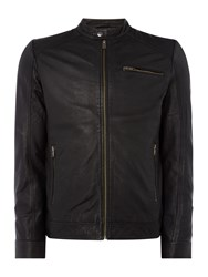 Selected Men's Homme Taylor Leather Jacket Black