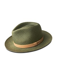 Bailey Of Hollywood Gelhorn Straw Hat With Leather Band Olive