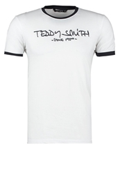 Teddy Smith Ticlass Print Tshirt Blanc Off White