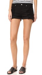James Jeans Slouchy Fit Boy Shorts Destroyed Black