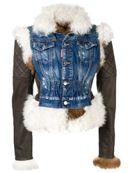 Dsquared2 Quilted Sleeve Jacket Brown