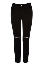 Oasis Black Ripped Isabella Crop Jeans
