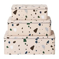 Ferm Living Terrazzo Tins Set Of 3 Rose