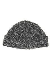Topman Grey Boucle Textured Beanie Hat