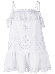 Red Valentino Redvalentino Broderie Anglaise Ruffled Top 60