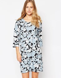 Soaked In Luxury Printed 3 4 Sleeve Dress Multi