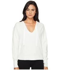 Alo Yoga Fluid Long Sleeve Top White Heather Women's Long Sleeve Pullover