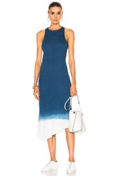 Ag Adriano Goldschmied Lateral Dress In Blue Tie Dye And Ombre Blue Tie Dye And Ombre