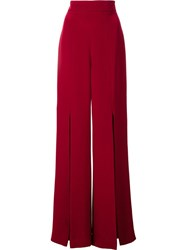 Cushnie Et Ochs Slit Accent Flared Trousers