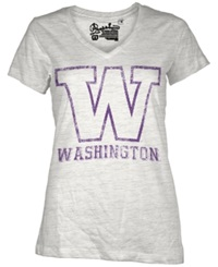 Royce Apparel Inc Women's Short Sleeve Washington Huskies T Shirt White