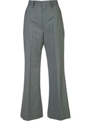 Comme Des Garcons Junya Watanabe Striped High Waisted Trousers Grey