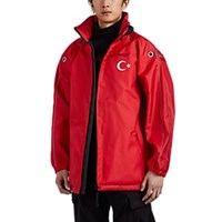 Vetements Turkish Flag Oversized Parka Red