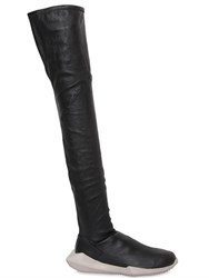 Rick Owens By Adidas 30Mm Stealth Stretch Leather Boots