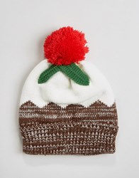 7X Christmas Christmas Pudding Hat Brown