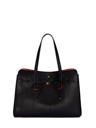 Nica Bow Tie Grab Tote Black