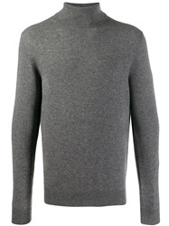 Cruciani Turtleneck Knitted Jumper Grey