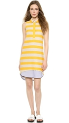 Band Of Outsiders Sleeveless Knit Shirtdress Marigold
