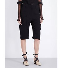 J.W.Anderson Jw Anderson Utility Straight Crepe Shorts Black