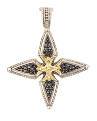 Konstantino Pave Black Diamond Cross Enhancer