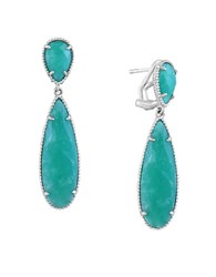 Effy 925 Sterling Silver And Amazonite Drop Earrings Teal