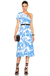 Tanya Taylor New Amy Dress In Blue Floral White